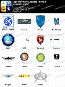 Logo Quiz 2 Answers Level 4 Automotive