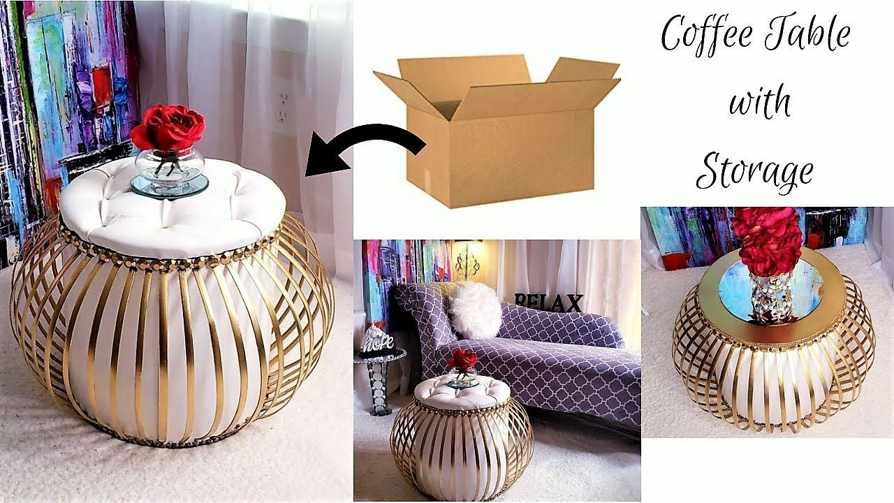 Diy 2 In 1 Storage And Coffee Table For Small Spaces Small Space Decorating Ideas 2019 Youtube Decorating Small Spaces Small Space Diy Table For Small Space