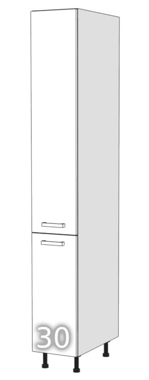 GLOSS Two-door standing wardrobe 30 (Opening side: right …