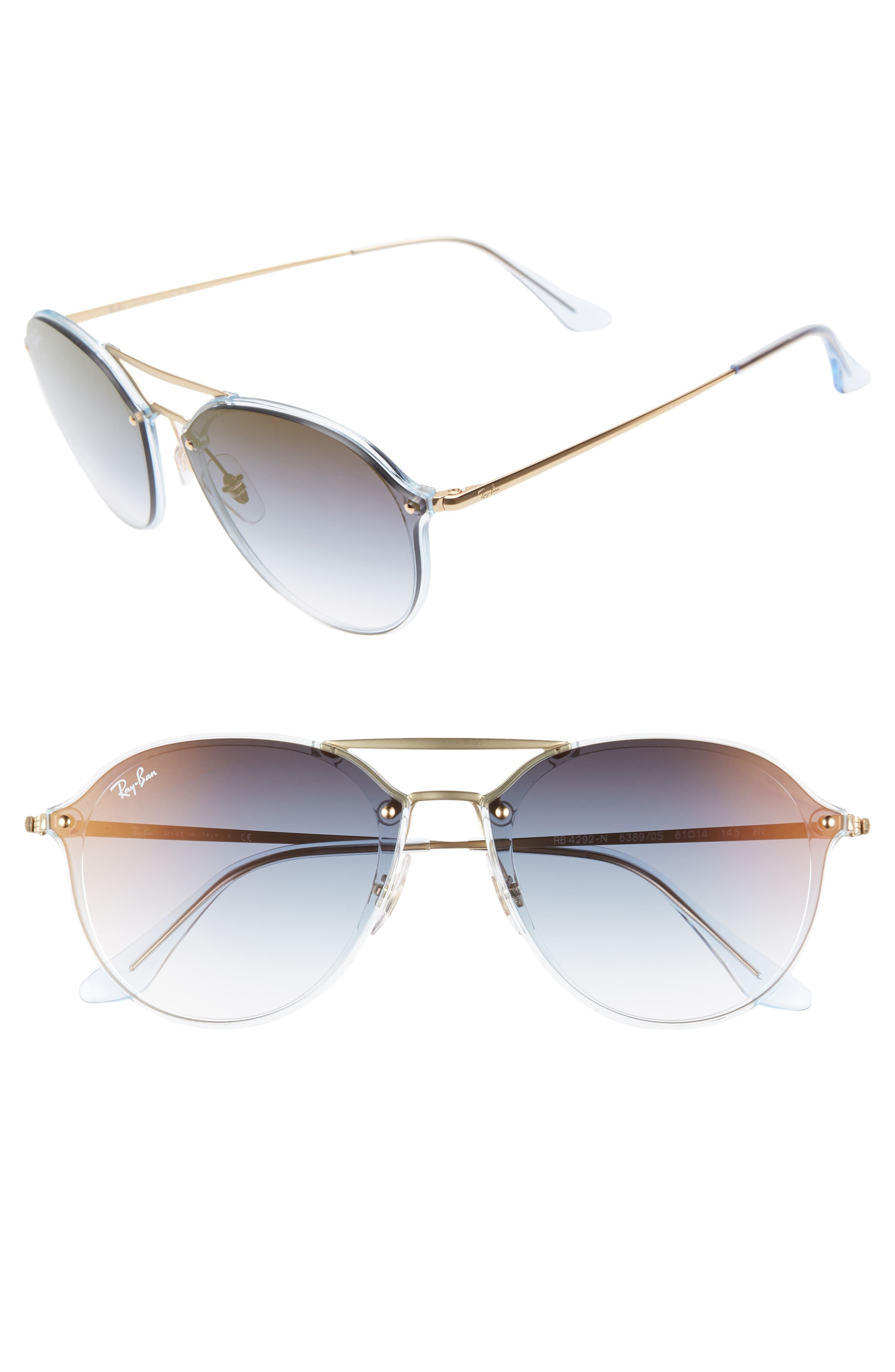 c4fa86386a25 Ray-Ban 61Mm Gradient Aviator Sunglasses - Gold/ Brown Gradient in ...