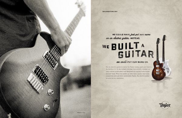 We built a guitar