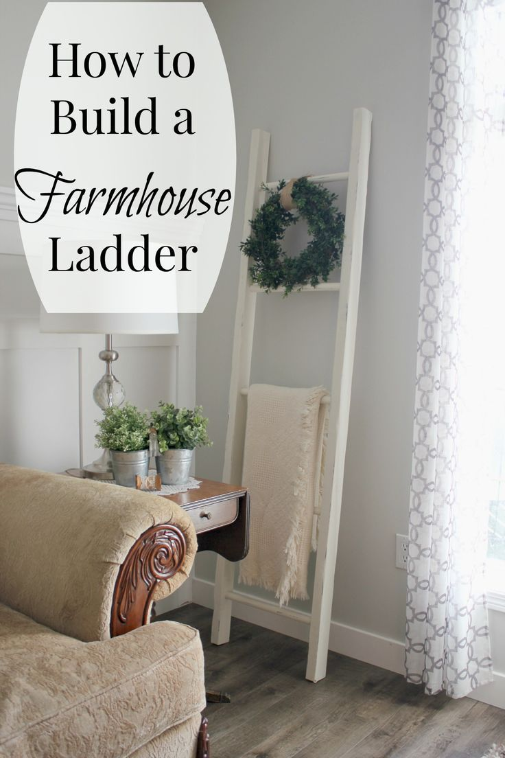Monthly diy challenge how to build a farmhouse style blanket ladder