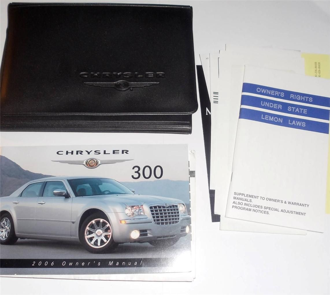Chrysler 300c lx 2006 owners manual download manuals & technical.