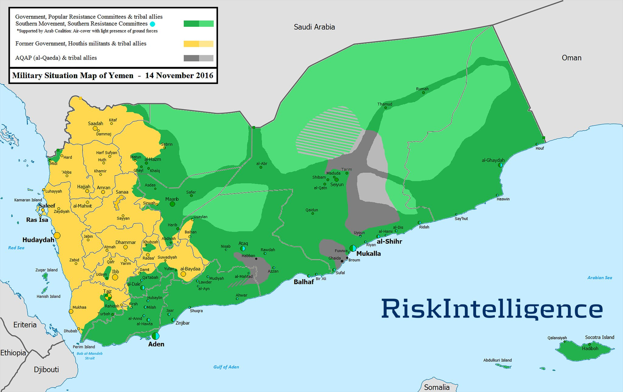 Yemen Map Fighting Continued Along The Frontlines Areas In Hajja - Taiz map