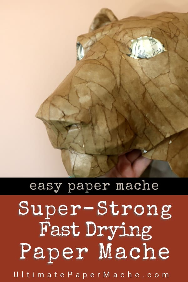 Super Strong Paper Mache That Dries Really Fast Paper Mache Paste Paper Mache Making Paper Mache