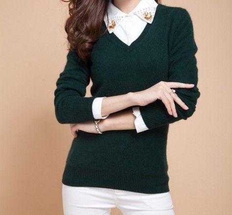 Dámský elegantní svetr tmavě zelený – dámské svetry + POŠTOVNÉ ZDARMA Na  tento produkt se vztahuje 6bedd80c69