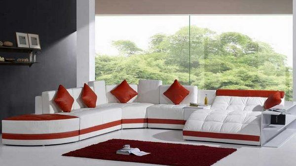 Living room  Red White Leather Sofa Sectional Sofa Indeas Living Room Ideas  Modern Furniture Living. Living room  Red White Leather Sofa Sectional Sofa Indeas Living