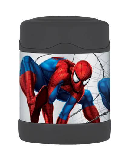 Keeps hot for 5 hours and cold for 7 hours.  Spider-Man™ FUNtainer™ Food Jar