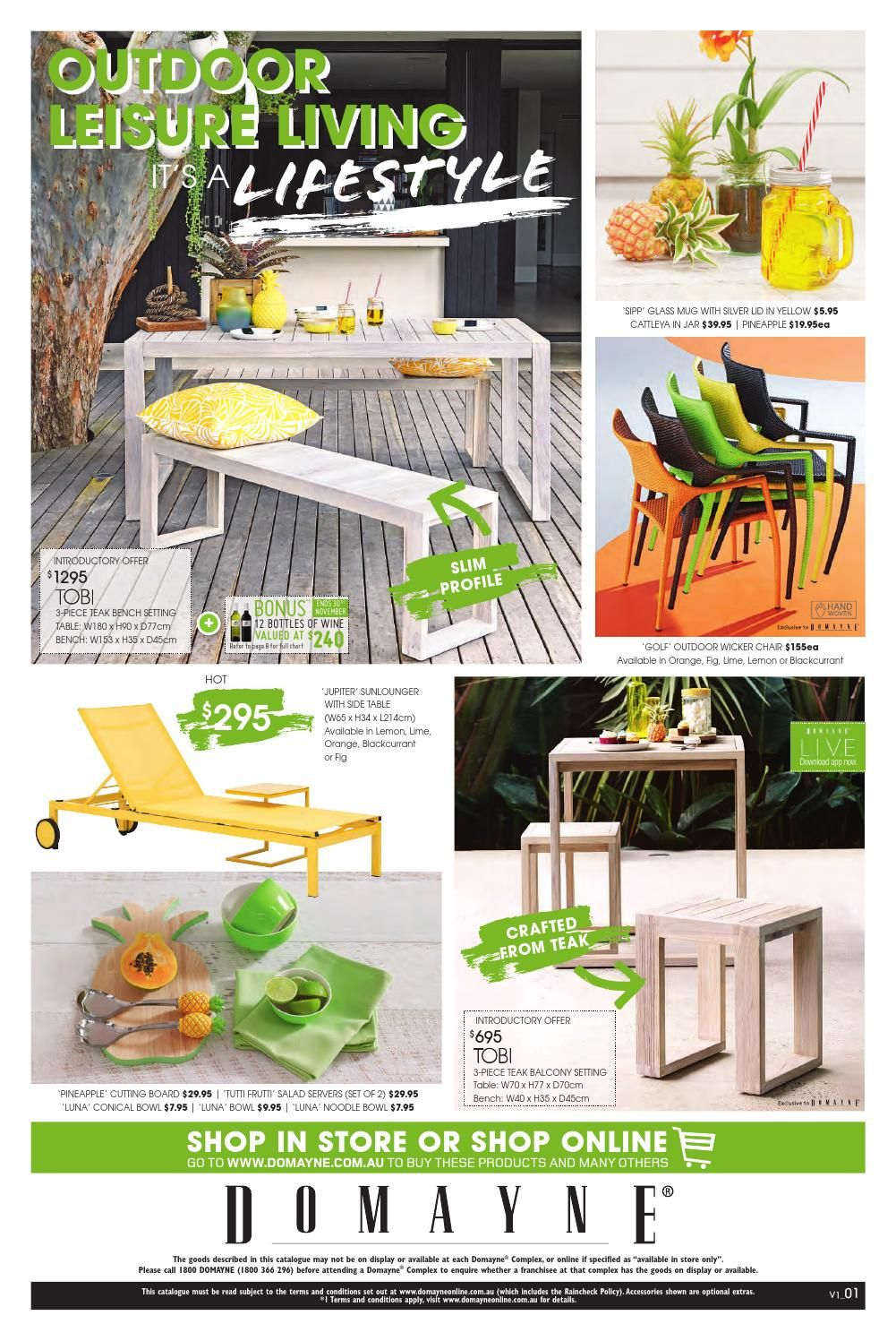 Outdoor Leisure Living - It's A Lifestyle. Catalogue available from 01.11.14 to 23.11.14