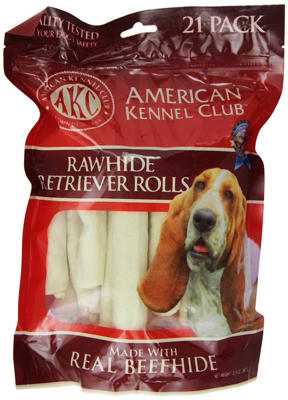 American Kennel Club 21 Count Beefhide Retriever Roll Dog Treats