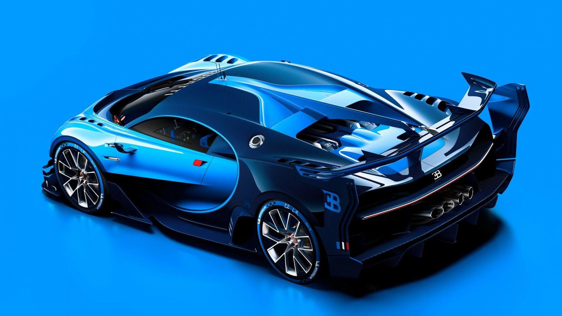Black And Blue Car Die Cast Model Car Bugatti Vision Gran Turismo 1080p Wallpaper Hdwallpaper Desktop Bugatti Bugatti Concept Bugatti Chiron