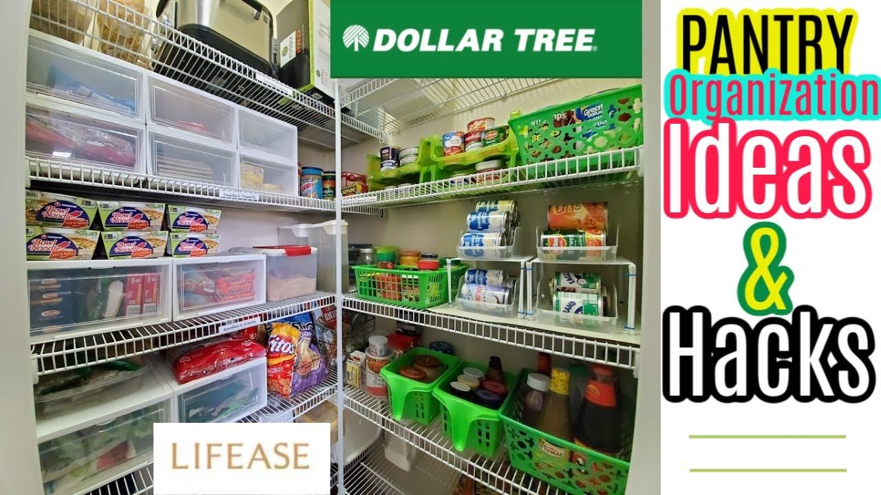 PANTRY ORGANIZATION IDEAS AND HACKS 2020 in 2020 Pantry