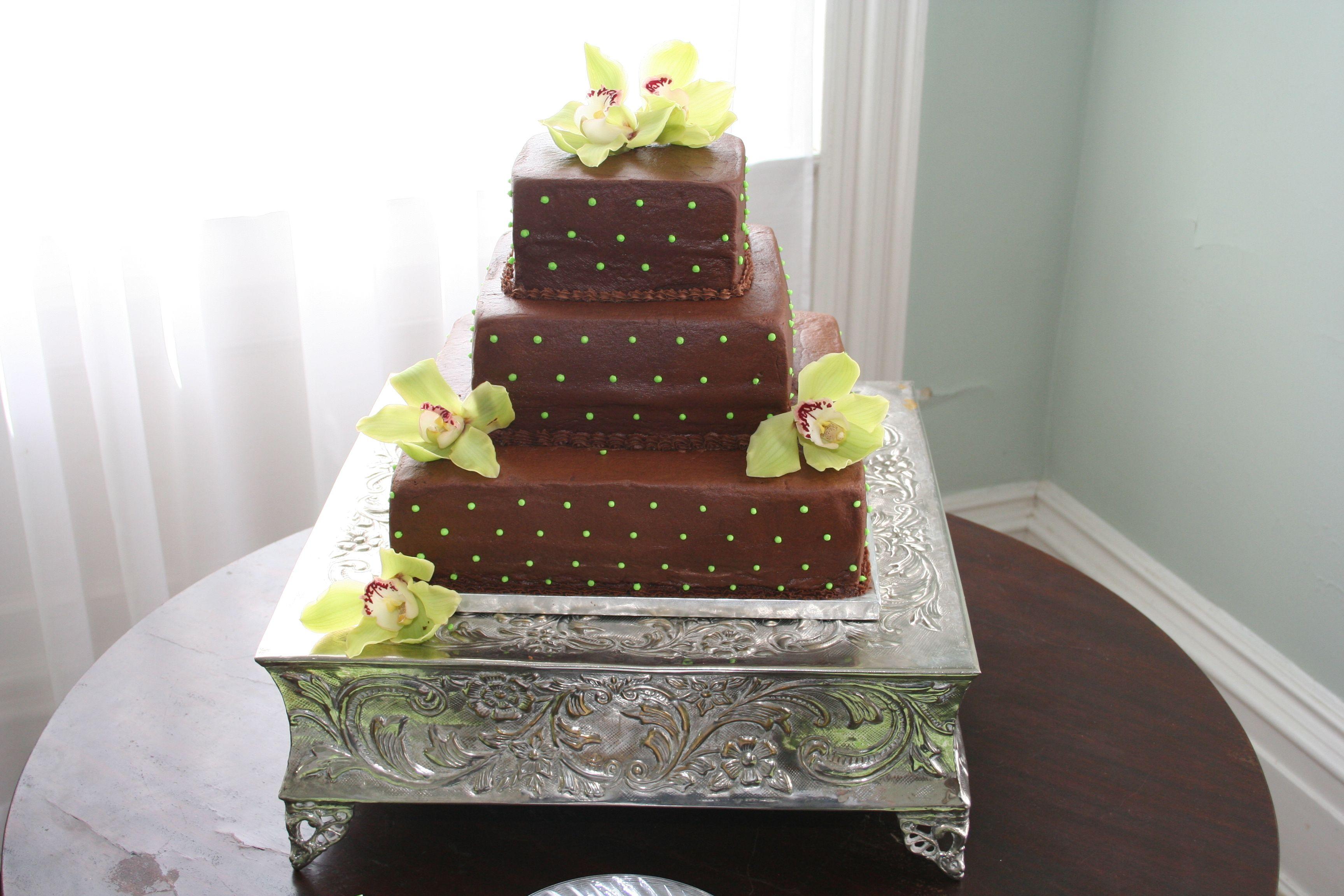 Chocolate peanut butter wedding cake