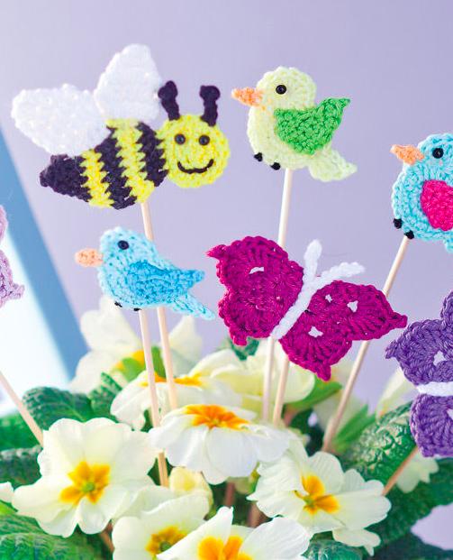 Gehäkelte Frühlingsboten für den Blumentopf oder das ...