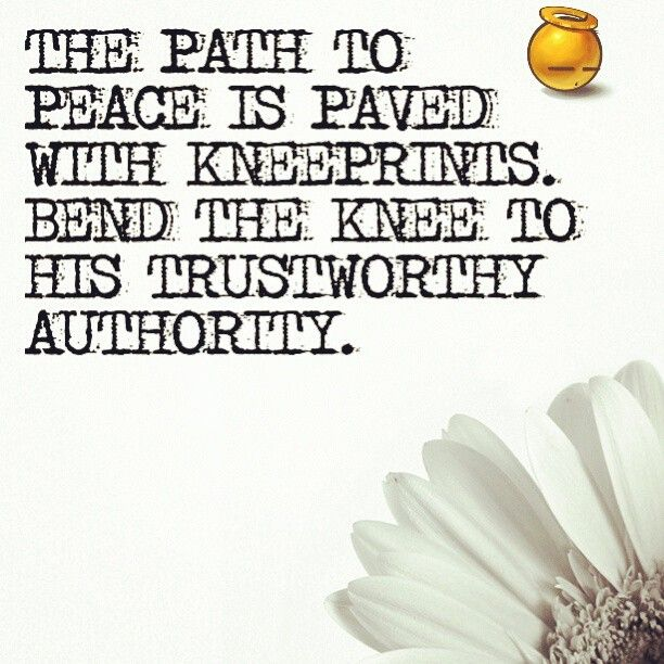"""""""The #path to #peace is #paved with #kneeprints #bend the #knee to his #trustworthy #authority #amen"""""""