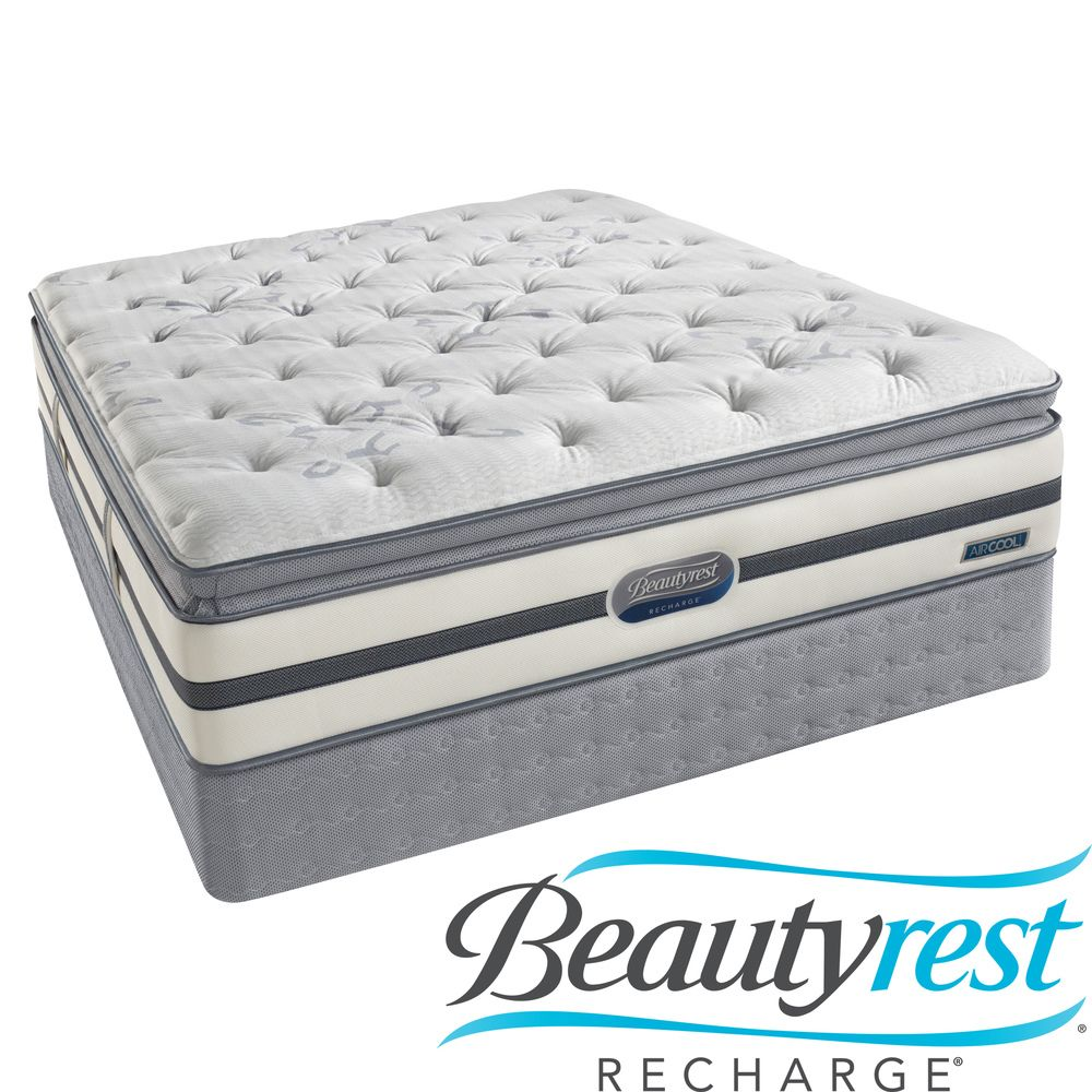 beautyrest recharge maddyn plush pillow top queen size mattress