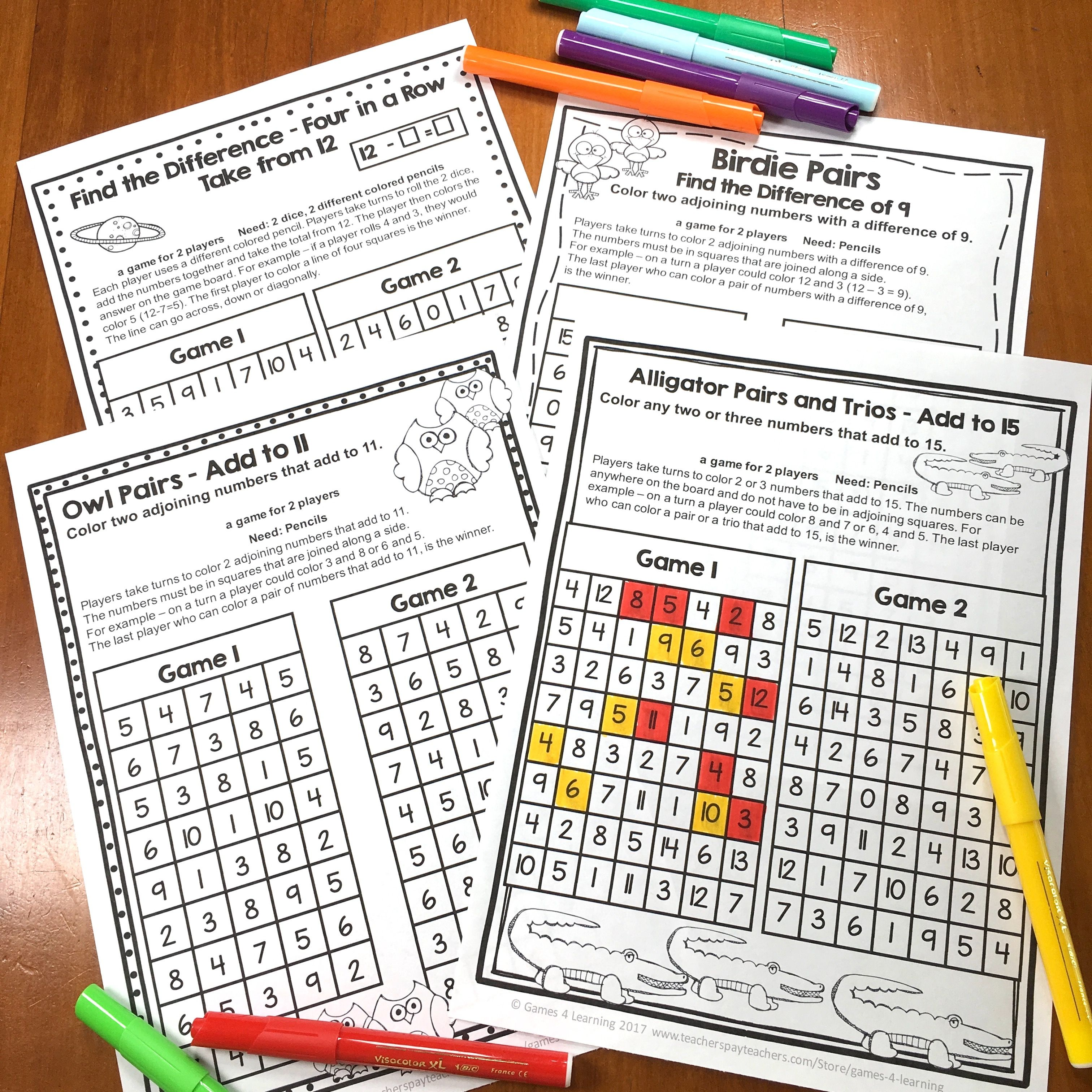 Fact Fluency Freebies For Addition And Subtraction