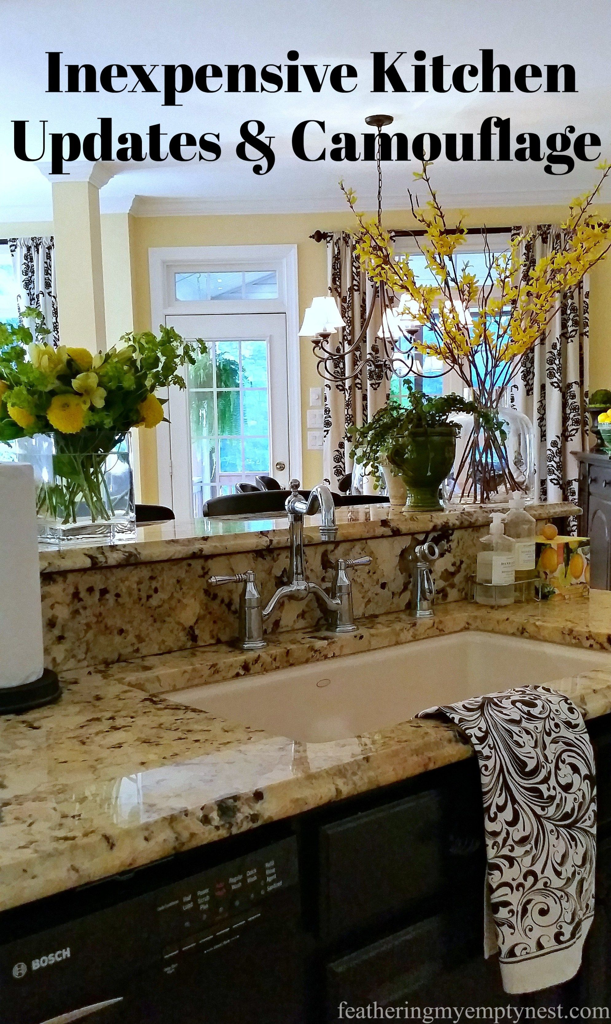 Inexpensive Kitchen Updates And Camouflage