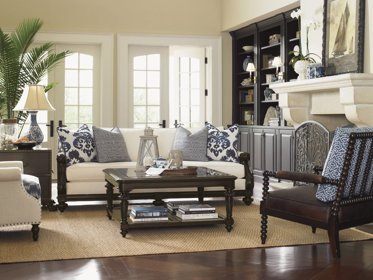 Key West Style Bedroom Decorating Ideas With Dark Furniture on