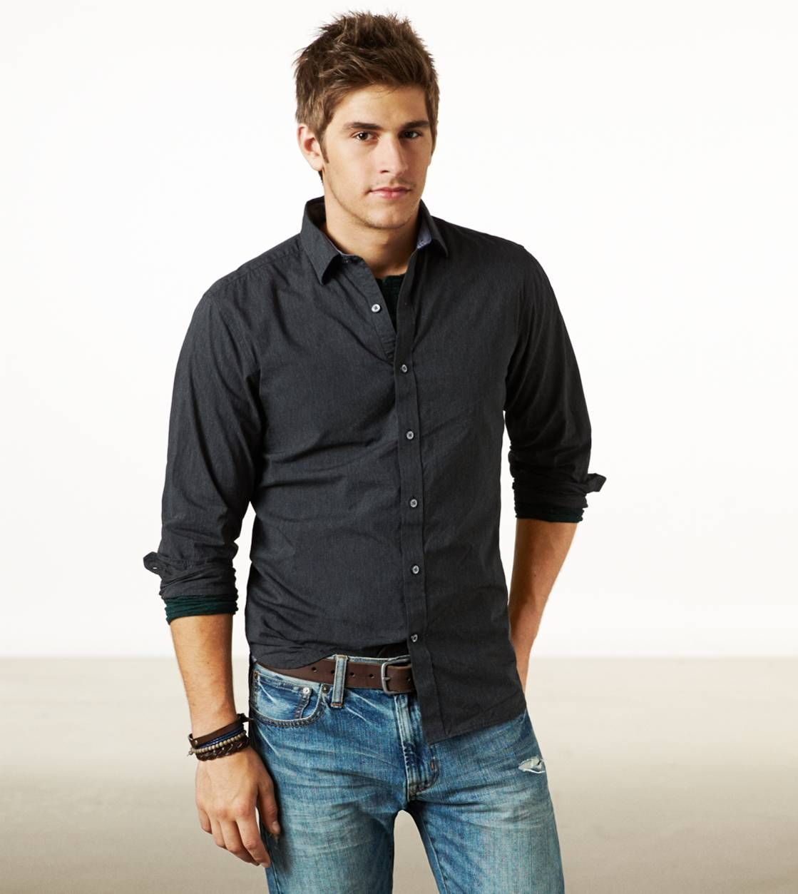 Crisp button-down shirt from American Eagle. Great for business ...