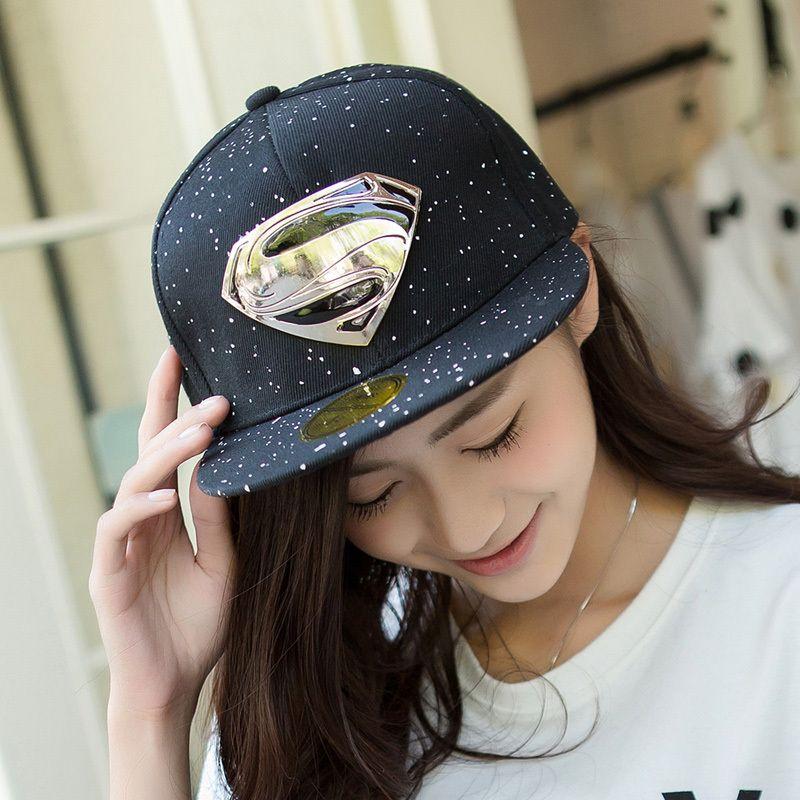 6032fc02061 2015 Latest Popular Hip-Hop Explosion Models S Logo Hats Unisex Fashion  Superman Baseball Cap Flat Along The Visor Free Shipping  Affiliate