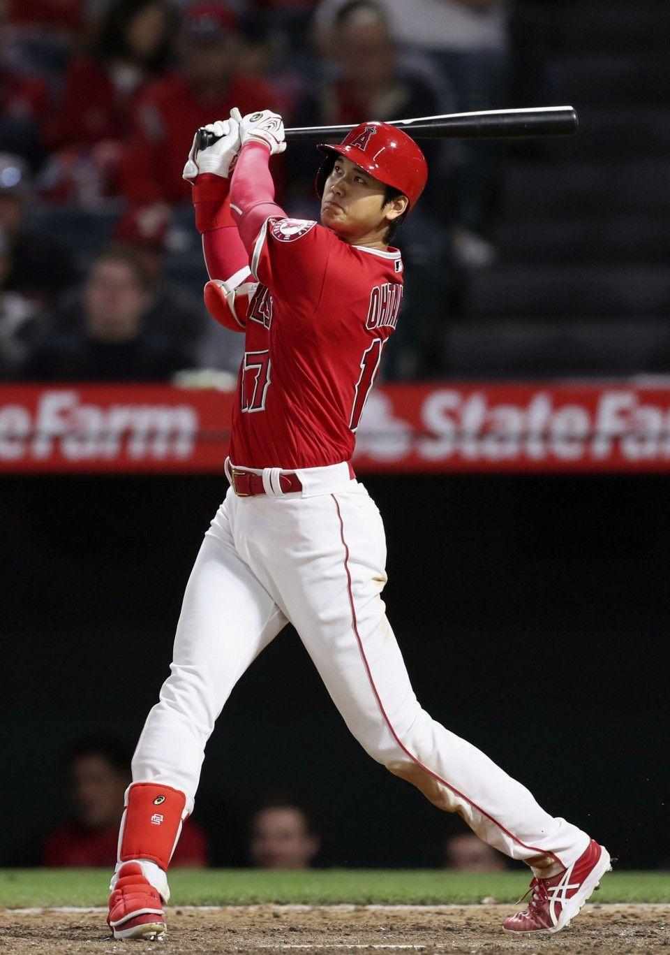 Baseball Ohtani Blasts 5th Homer In Angels 7 4 Win Over Twins Fantasy Baseball Japanese Baseball Player Twins Baseball