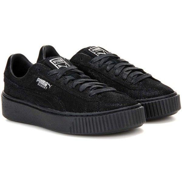 online retailer 632ee 10cff Puma Basket Platform Reset Suede Sneakers ($110) ❤ liked on ...