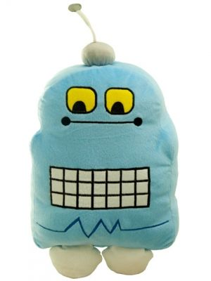 Robot Blue Cushion    Pinned for Kidfolio, the parenting mobile app that makes sharing a snap.