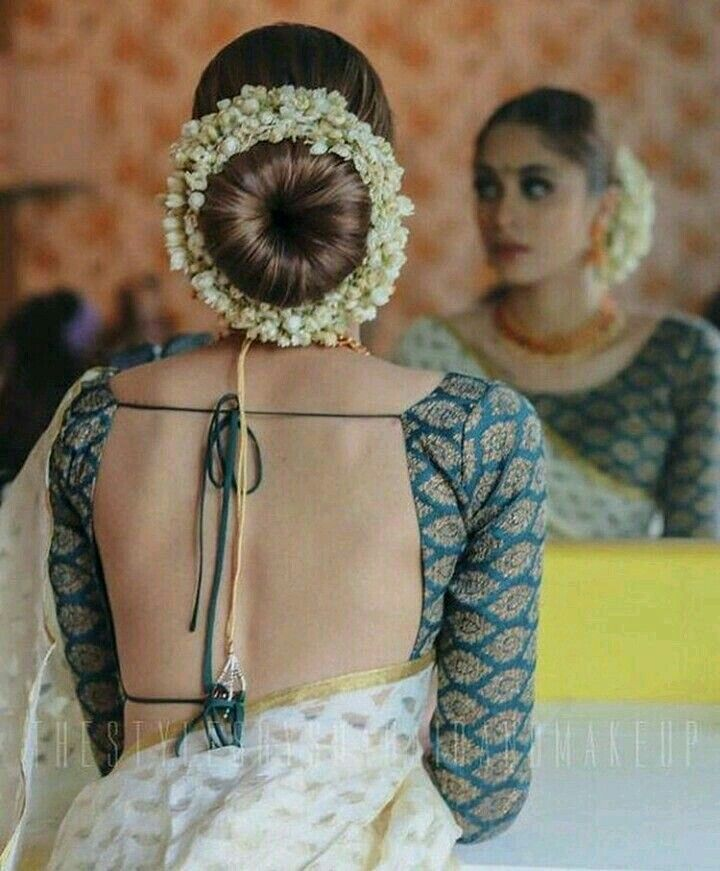 Wedding Hairstyle On Saree: Indian Wedding Hairstyles, Indian Bride Hairstyle