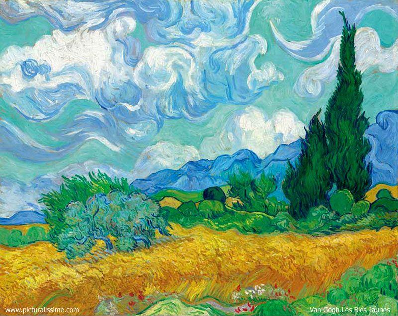 Les Bles Jaunes V Van Gogh Peinture Realisee Lorsqu Il Etait