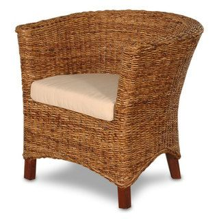 Astor Abaca Small U Chair With Cushion | Overstock.com Shopping   Great  Deals