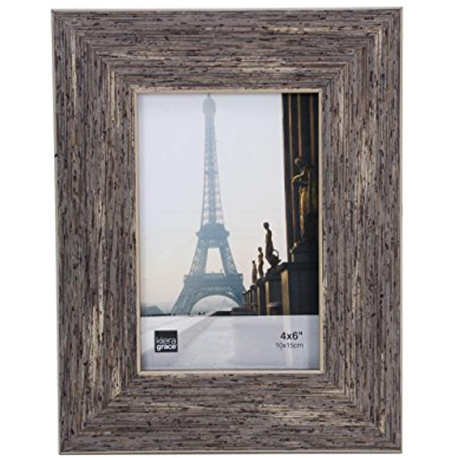 Kiera Grace Emery Picture Frame 4 By 6 Inch Plastic Resin Weathered Grey Reclaimed Wood Veneer Family Picture Frames Reclaimed Wood Finish Picture Frames