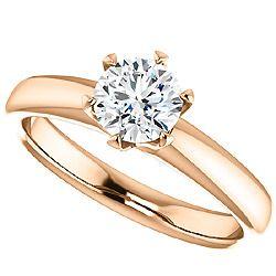 Rose Gold Engagement Ring $510