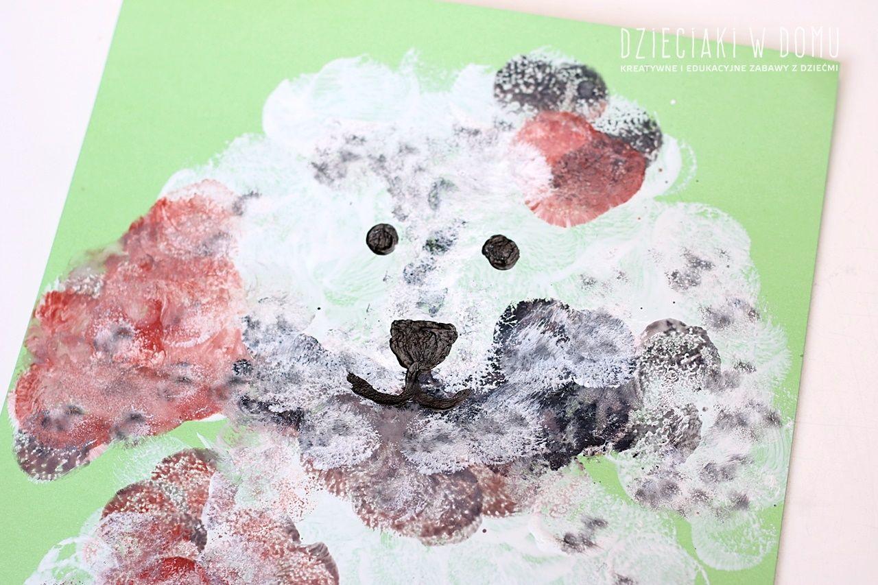 Pieski Prosta Praca Plastyczna Dla Dzieci Do Zrobienia W Domu I Przedszkolu Farby Okragle Pedzelki Gabkowe Stempelki Dla Dzieci In 2020 Animals Teddy Handmade