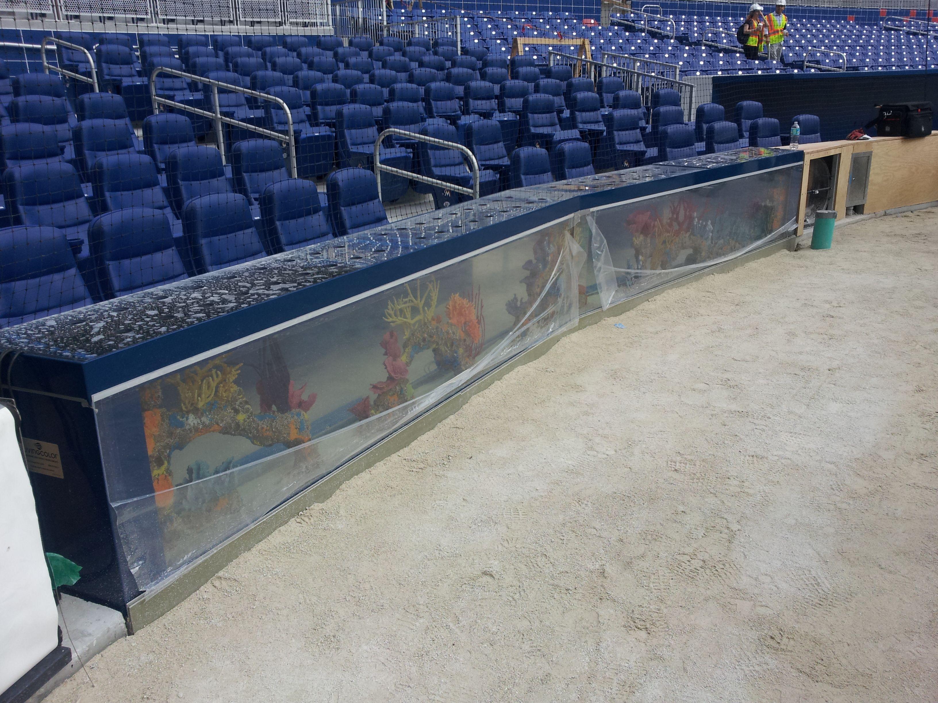 Fish aquarium in jeddah - In Field Aquarium At Marlins New Ballpark