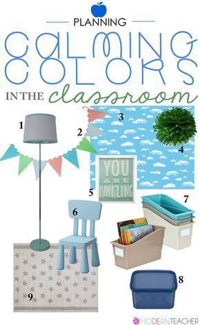 Classroom Planning: Calming Colors in the Classroom #classroomdecor