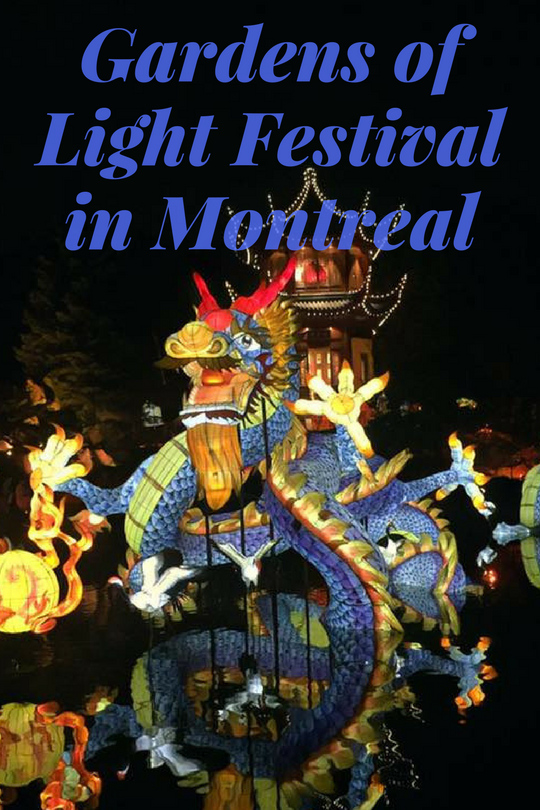 Gardens of Light Festival in Montreal Garden of lights