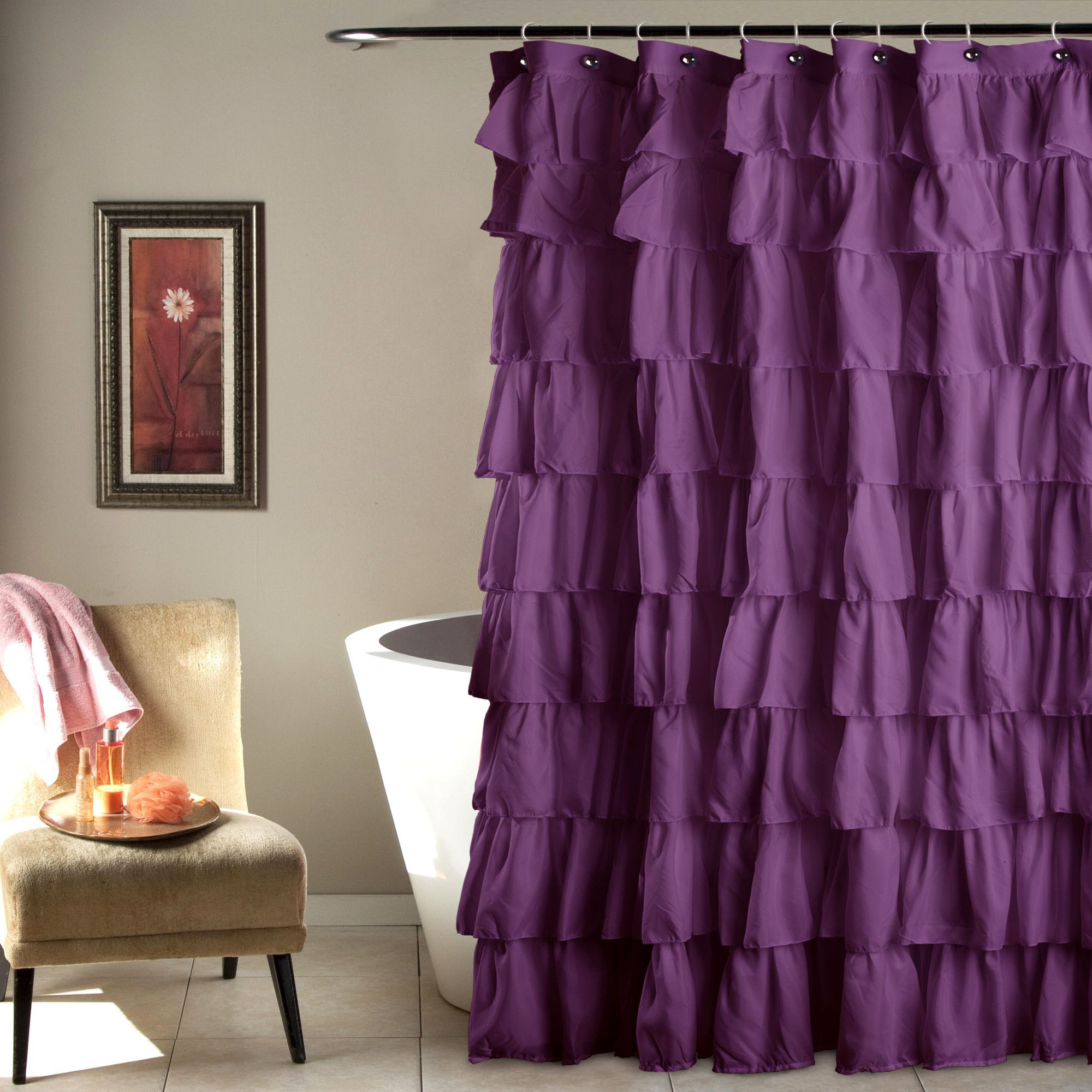 Ruffle shower curtain ruffle shower curtains apartments and room