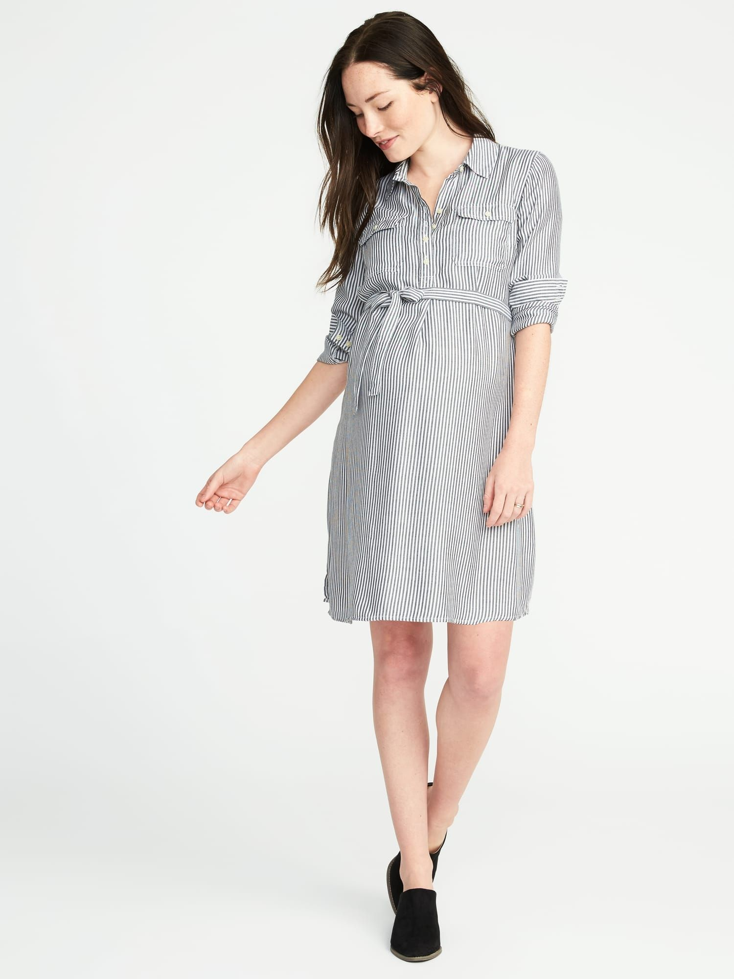 30aaec0aaed Striped Maternity Shirt Dress, Old Navy | Maternity Style ...