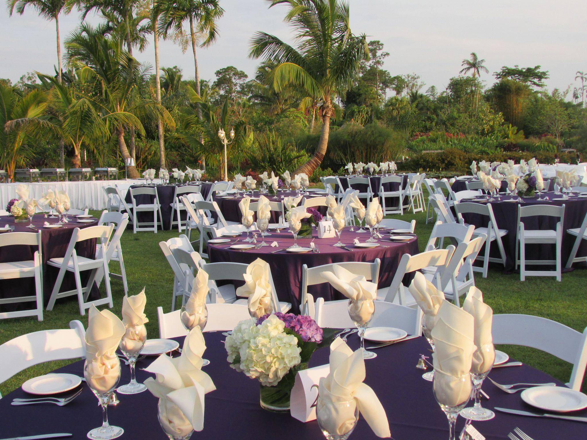 backyard wedding venues in orange county ca%0A Naples Botanical Garden Wedding Reception