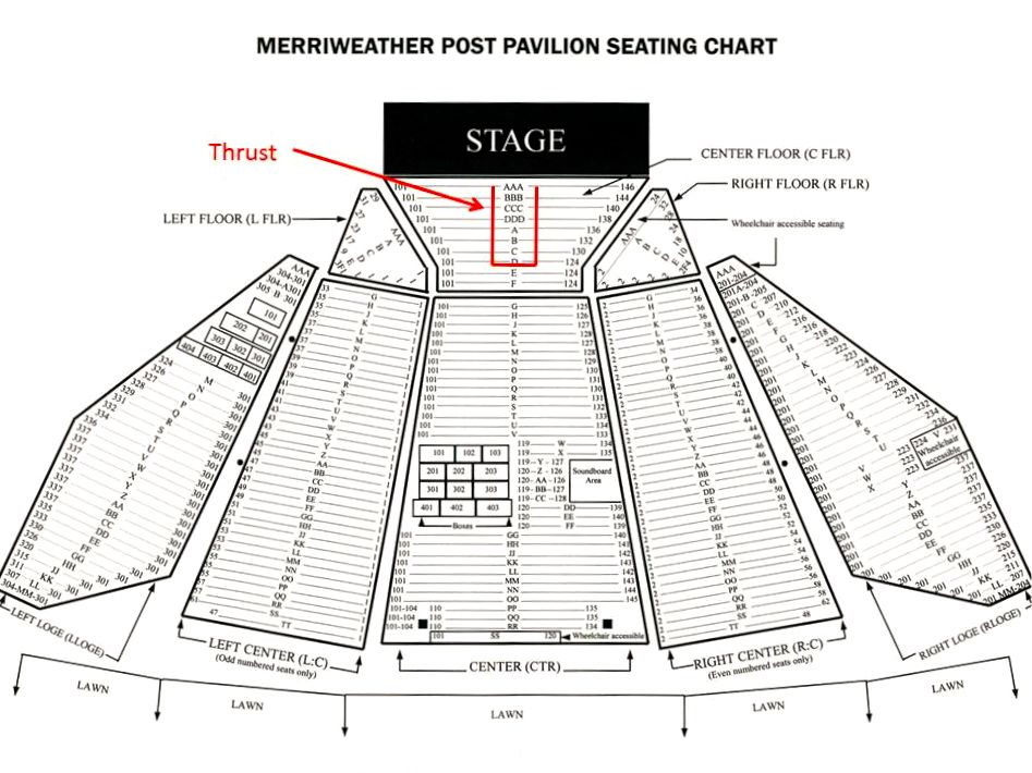 Merriweather Post Pavilion Seating Chart  Google Search  Concert