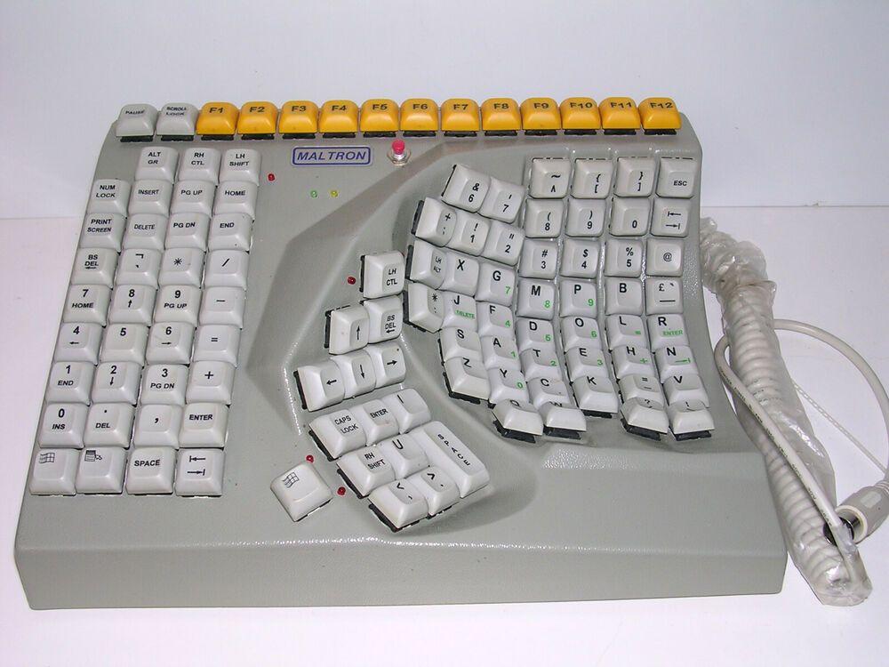 Vintage Pcd Maltron Single Hand Ergonomic Keyboard Right Hand Computer Untested Maltron In 2020 Computer Keyboard Computer Keyboard