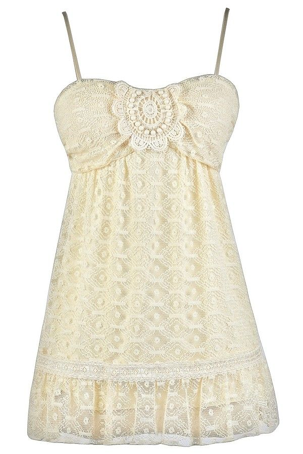 Lily Boutique Simply Sweet Mesh Lace Babydoll Top in Cream , $20 Cute Beige Top, Beige Lace Top, Cream Lace Top, Cute Summer Top, Mesh Lace Top, Lace Babydoll Top www.lilyboutique.com