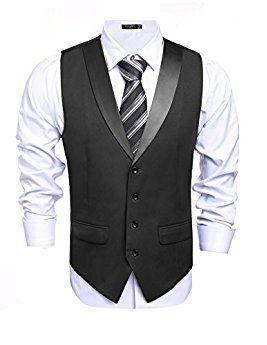Coofandy Men S Suit Vest Slim Fit Casual Skinny Dress Waistcoat Chaleco De Vestir Hombre Chalecos De Vestir Vestidos De Un Hombro