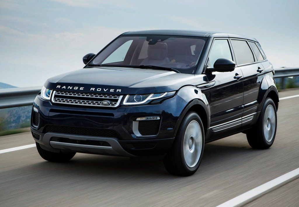2017 Land Rover Range Evoque Exterior Blue Color Headlights Grille And Badges