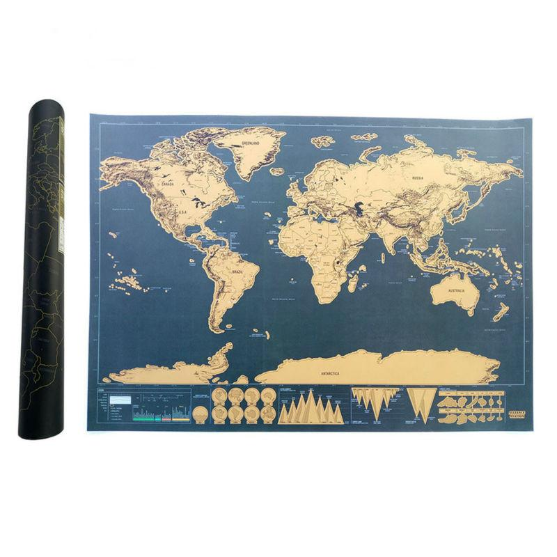 Map of the world travel edition deluxe map personalized world map map of the world travel edition deluxe map personalized world map poster black traveler journal log gumiabroncs Images