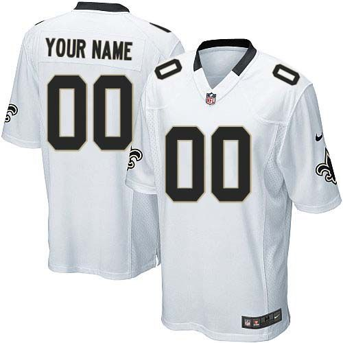 Nike New Orleans Saints Customized White Stitched Elite Youth NFL Jersey 9c3c7d1fd
