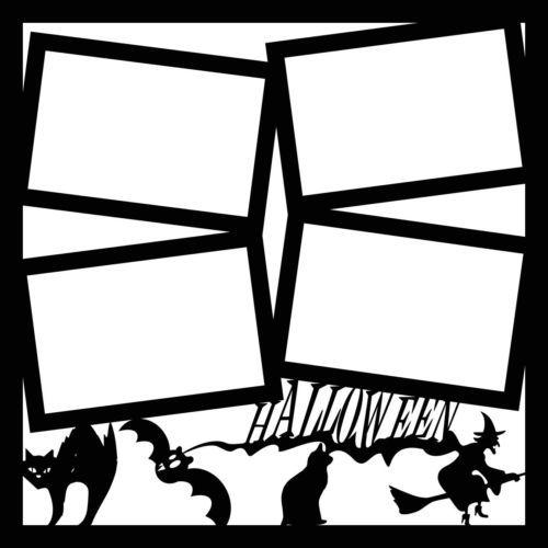 Best Scrapbooking Premade 12X12 Layout Overlay Halloween 400 x 300