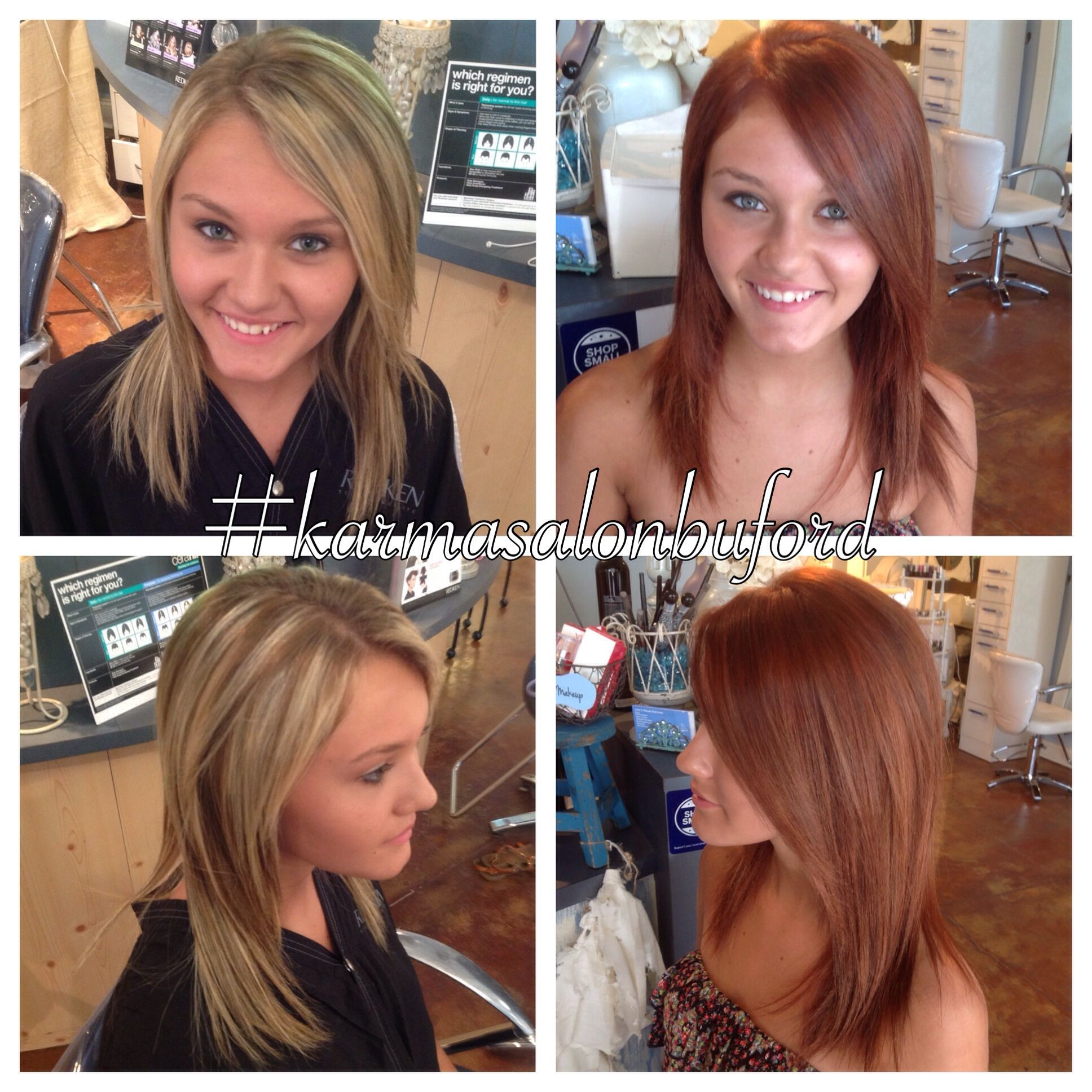 Blonde To Red Before And After Red Blonde Hair Red Hair