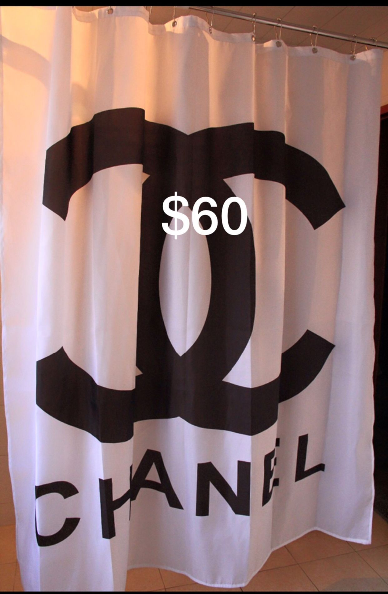 Chanel Shower Curtain Fashion Home Accessories Girly Chic